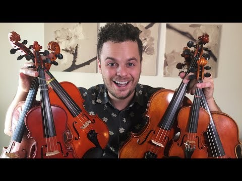 PLAYING ONE SONG WITH 6 SMALL VIOLINS -