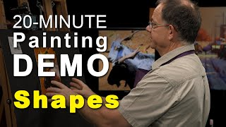 20-minute Mike Svob Painting Demo (shapes)