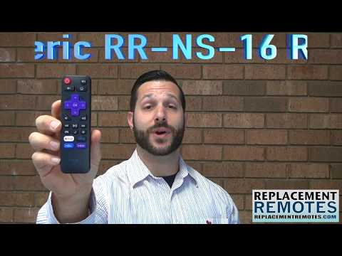 ANDERIC RR-NS-16 for Insignia/Element Roku Enhanced TV Remote Control