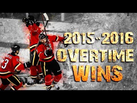 Calgary Flames Overtime Wins - 2015/2016 Season