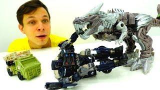 АВТОБОТЫ в опасности! Битва с Баррикейдом, ГДЕ ОПТИМУС? Роботы ТРАНСФОРМЕРЫ 5 игрушки для мальчиков