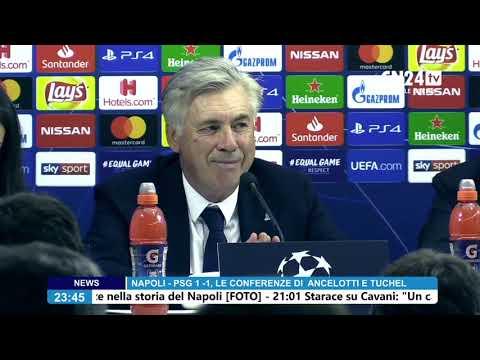 Napoli-PSG, la conferenza stampa post-partita di Carlo Ancelotti видео