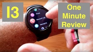 BAKEEY I3 Large Transflective Screen 1GB/16GB Android 5.1 Smartwatch: One Minute Overview