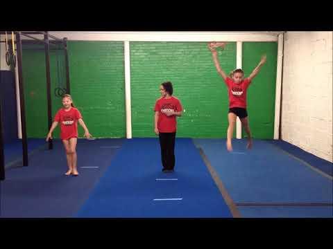 Gymnastics Level 1 (Beginner) // Virtual Gymnastics Class // Online gym class at home