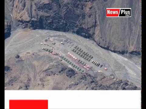 गलवान घाटी से चीनी सेना ने टेंट और ढांचे ...