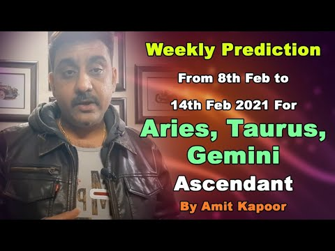 Weekly Prediction From 8th Feb to 14th Feb 2021 For Aries, Taurus, Gemini Ascendant ( IN ENGLISH )