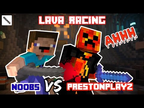 PrestonPlayz VS Noobs Lava Race - Minecraft Story Mode (Ft. Youtubers)
