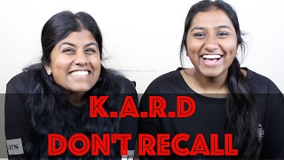 K.A.R.D - Don't Recall MV Reaction