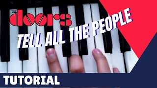 Tell All The People- The Doors - Tutorial and Cover, Vox Continental Piano Bass