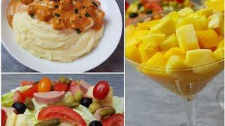 Repas Complet Avec Entrée, Plat Et Dessert Prêt En Moins De 30min