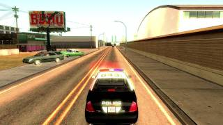 Los Angeles Worlds Airport Police Code 3 Response - GTA SA