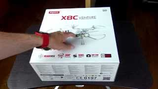 Black Syma X8C Quadcopter Unboxing and Assembly