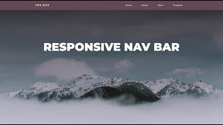 Responsive Navigation Bar Tutorial   HTML CSS JAVASCRIPT