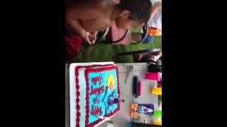 Justin's final birthday celebration. Savin the best for last