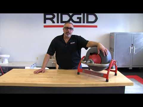 Swapping out the standard drum on the RIDGID K3800 drain cleaning machine