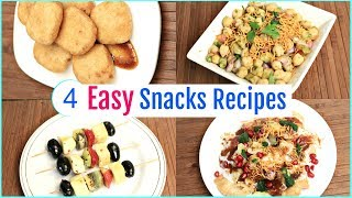 4 Easy Evening Snacks Recipes | Lunchbox/Appetizer/Starter Recipes | CookWithNisha