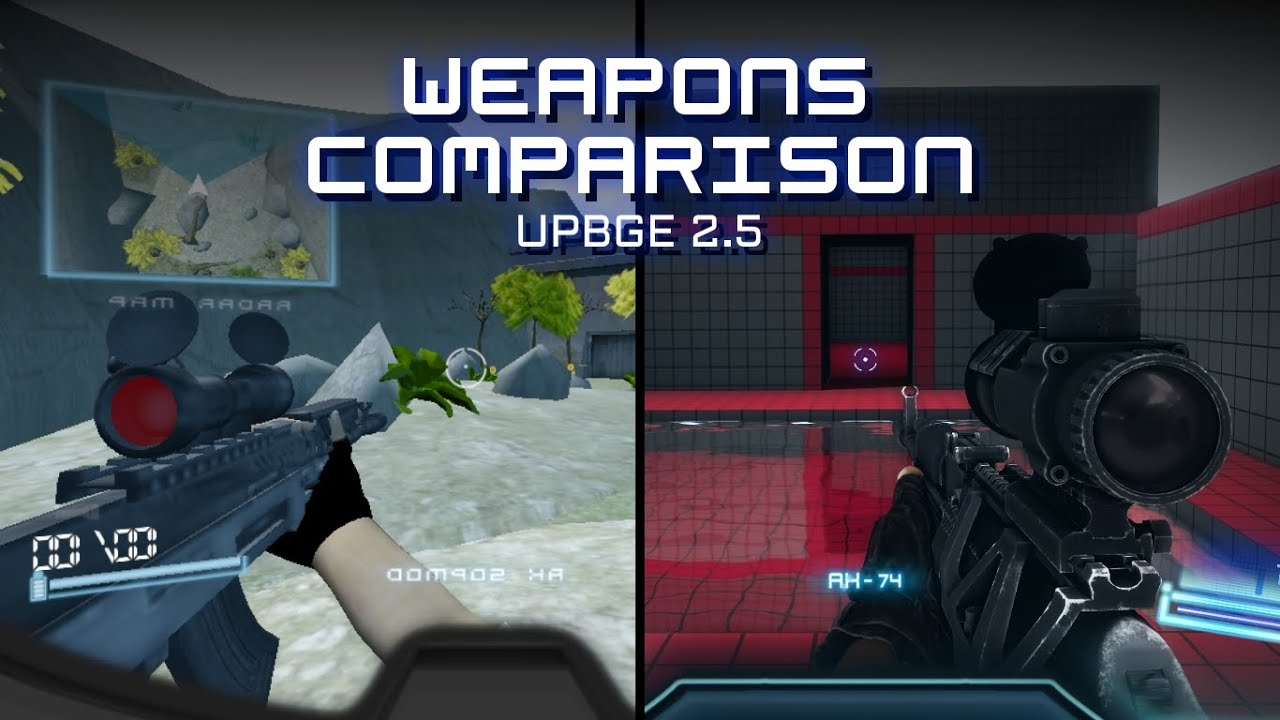 Zvirus remake : weapons comparison UPBGE 2.5