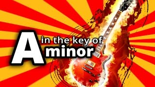 AC/DC style BACKING TRACK in A MINOR - Am Hard Rock GUITAR BACKING TRACK