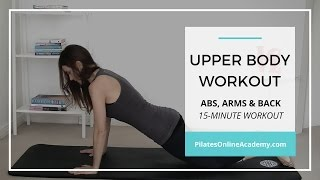 Upper body workout for women | Abs, arms, back | 15-minute workout by Pilates Online Academy