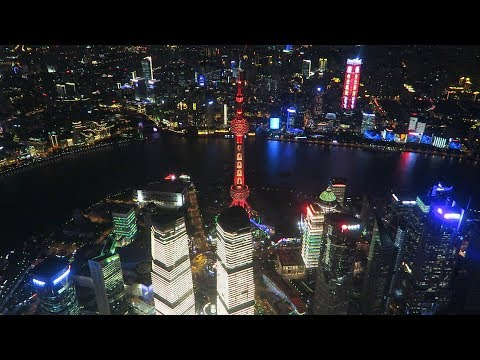 View from the Top of the Shanghai Tower - 632m The Tallest Skyscraper in China