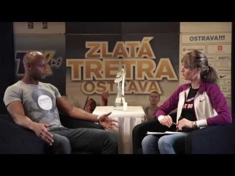 Asafa Powell - interview in studio