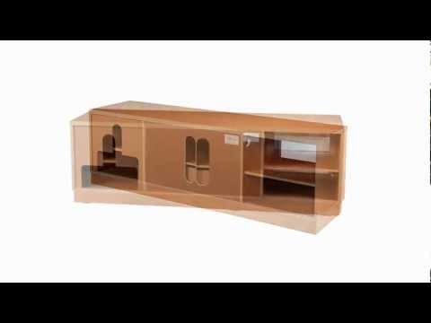 Video for Contemporary 70-Inch Light Cherry Console