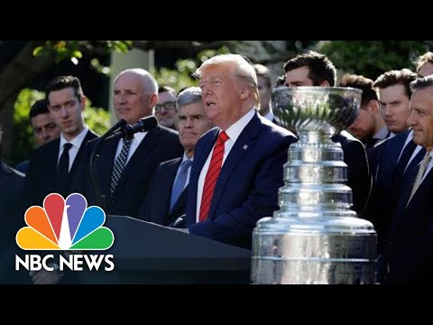 President Donald Trump Brings Up Impeachment While Honoring 2019 Stanley Cup Champions | NBC News