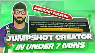 *NEW* FASTEST WAY TO UNLOCK THE CUSTOM JUMPSHOT CREATOR IN NBA 2K20! BEST JUMPSHOT NBA2K20! PATCH 13