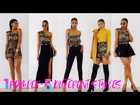 HOW TO STYLE A ROMPER 5 DIFFERENT WAYS!!!! #fashiontips #howtostyle #lookbook