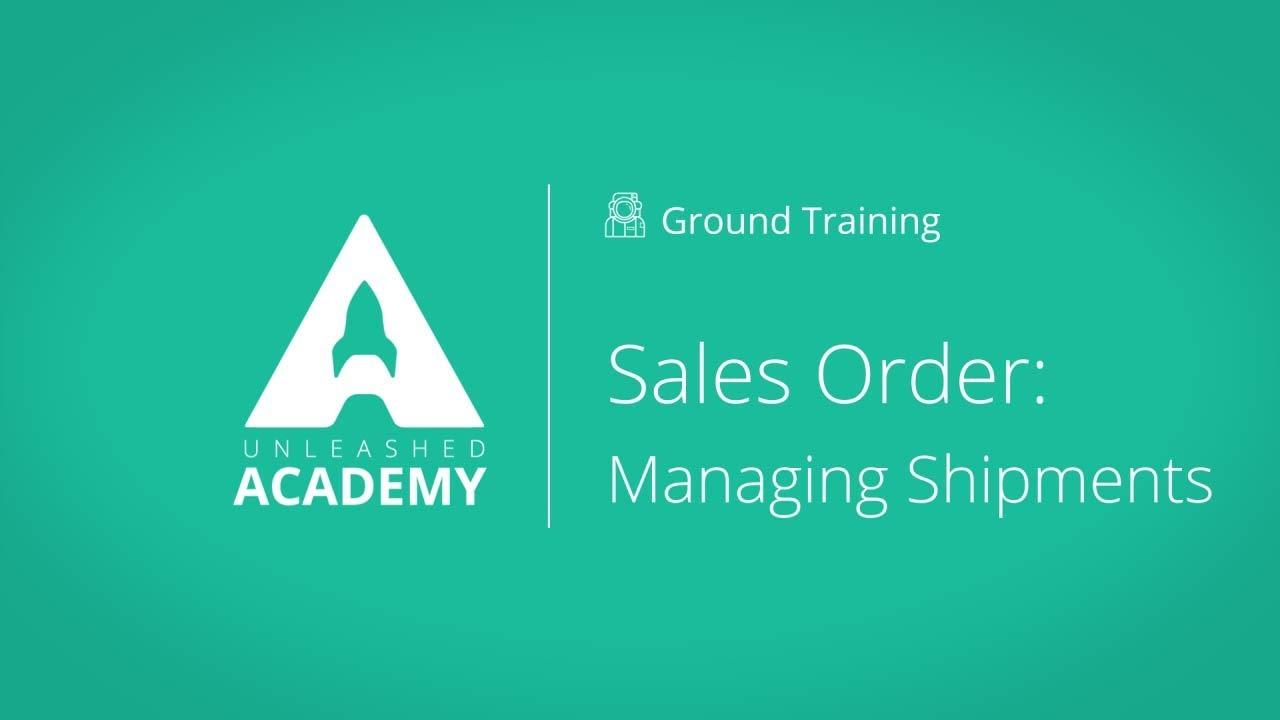 Sales Order: Managing Shipments YouTube thumbnail image