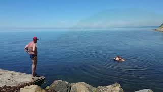 Чёрное море в п. Новомихайловка , Краснодарский край май 2019 .