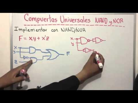 Compuertas universales NAND y NOR   YouTube