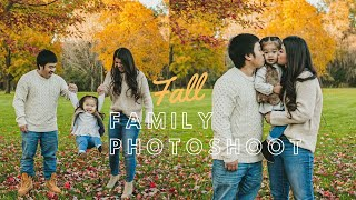 Fall Family Photoshoot 2019 | Behind The Scenes