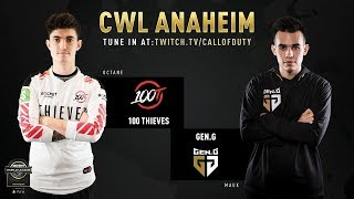 100 Thieves vs Gen.G | CWL Anaheim 2019 | Day 1