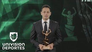 Emotivo reconocimiento a Javier Hernández en los Premios Univision Deportes