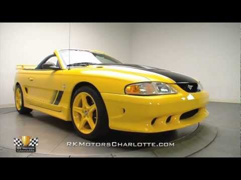 Yellow 1998 Ford Saleen Mustang SA-15 Roadster