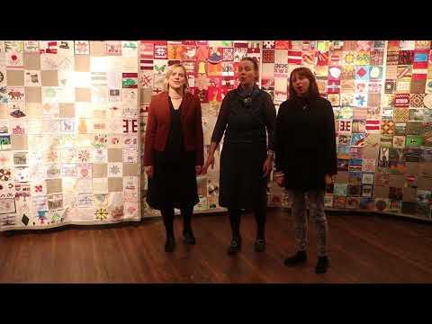 """Izstādes """"Stāstu sega"""" atklāšana Alūksnes muzejā"""