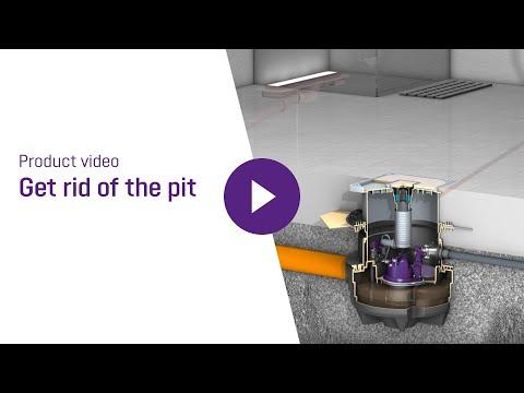 Aqualift S Compact Mono 1200W m/dæksel til flisegulv