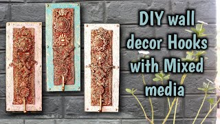 44. DIY Home Decor Hooks With Mixed Media
