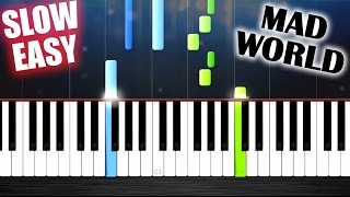 Mad World - Gary Jules - SLOW EASY Piano Tutorial by PlutaX
