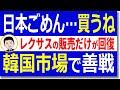 日本製品不買で販売半減でも善戦するレクサス!