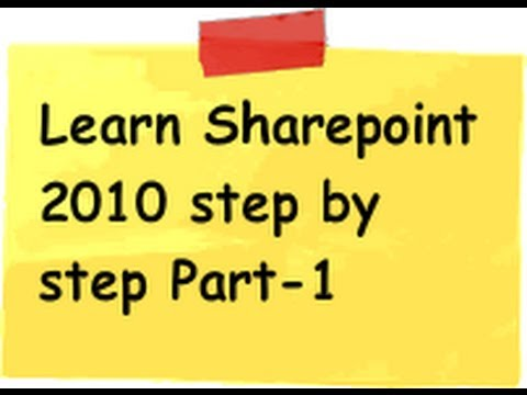 Tutorial 1 :- What is sharepoint 2010 , sharepoint foundation 2010 ...