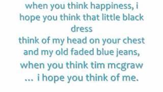 Taylor Swift-Tim McGraw w/Lyrics On Screen/Description