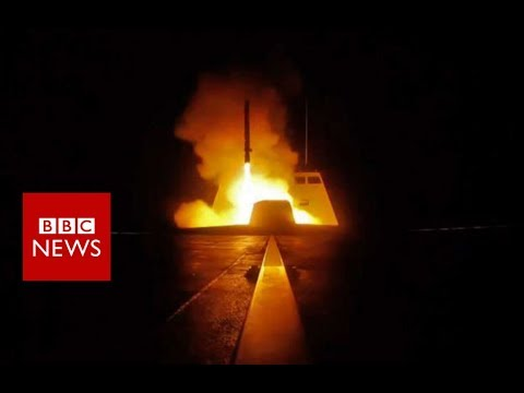 Syria air strikes: Footage showed missiles being launched – BBC News