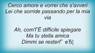 Andrea Bocelli - Dell' Amore Non Si Sa Lyrics