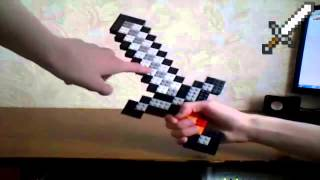 смотреть как сделать лего меч из майнкрафт #7