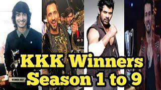 Khatron Ke Khiladi 2019  All Season Winner List 1,2,3,4,5,6,7,8,9/ Punit Pathak