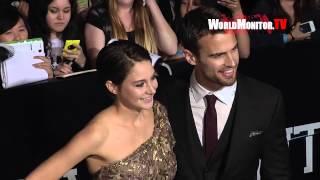 Shailene Woodley, Theo James arrive at 'Divergent' Los Angeles premiere