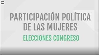 Participación política de las mujeres - Elecciones Congreso