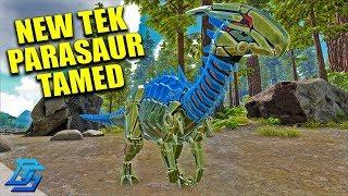 IMMERSIVE TAMING NEW TEK PARASAUR!- Ark Survival Evolved Gameplay - Part 9